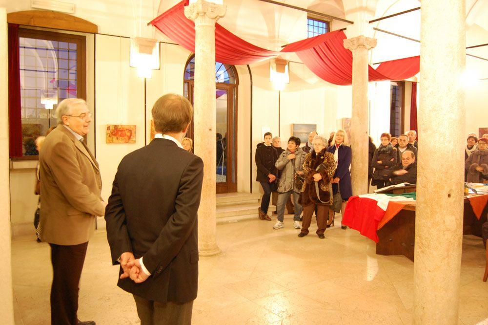 """Personale: """"ricordare...riscoprire...per rincontrarsi""""  Ass. Il Castello - Ponti sul Mincio Mn.  19/11  4/12/2011"""