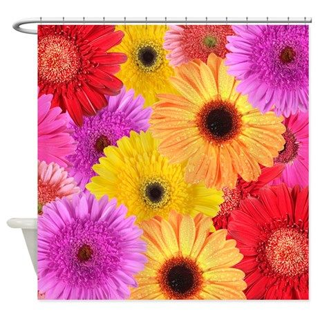 GERBER DAISIES Shower Curtain In 2018