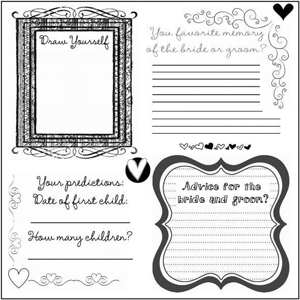 diy wedding guestbook templates | guest book pages | DYI Printable ...