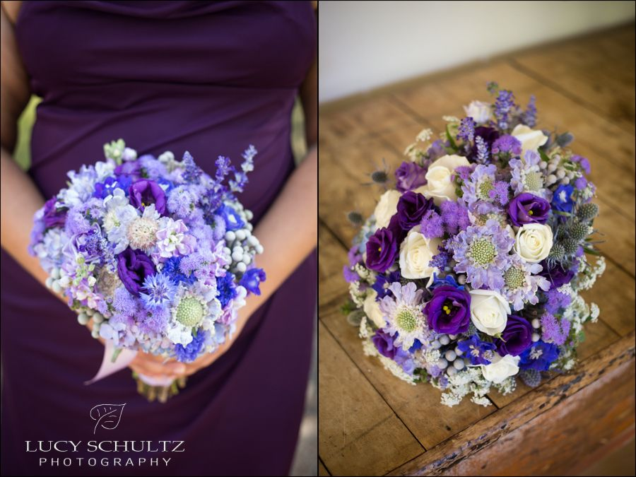 Purple and Blue Wedding Flowers | Lucy Schultz Photography