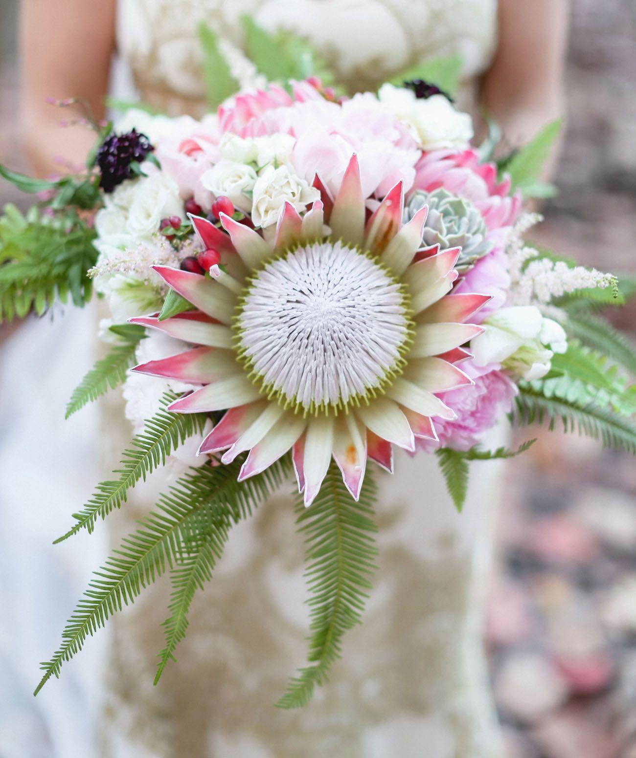 Protea Wedding Flowers: Havana Nights Wedding On Valentine's Day: Hilary + David