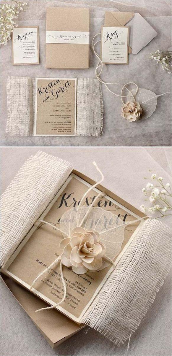 Rustic Wedding Invites Shabby Chic Ideas