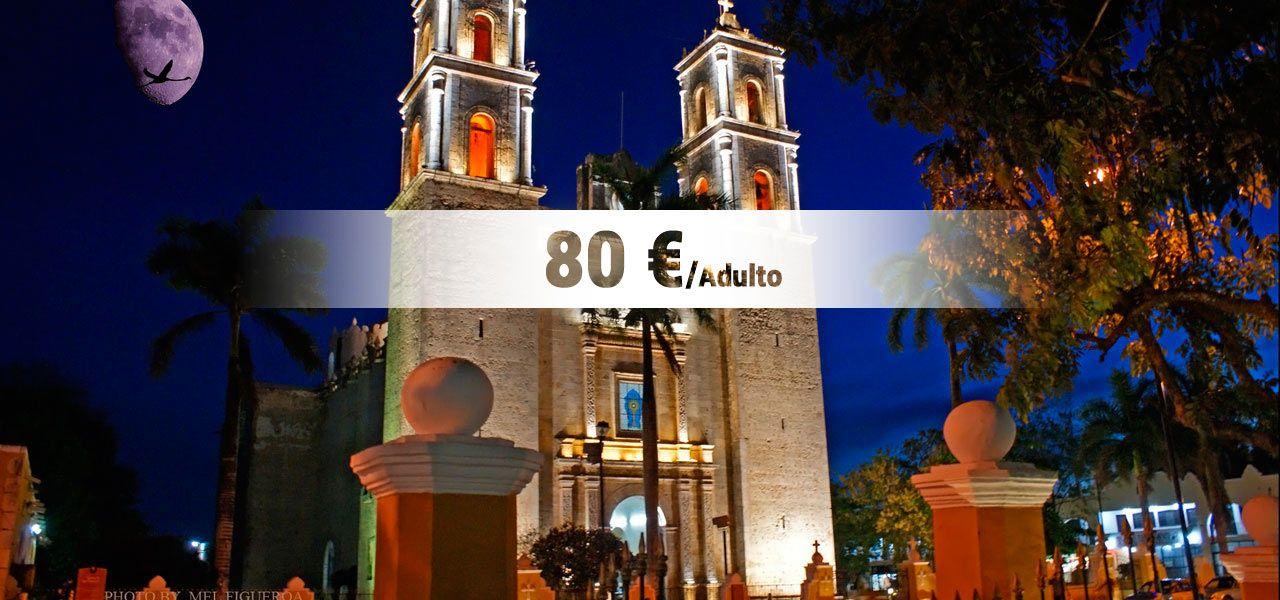 Tours y excursiones a pirámides de Chichen Itzá en la Riviera Maya, nadar en el cenote Ik Kil y turismo por la ciudad colonial de Valladolid en la península de Yucatán