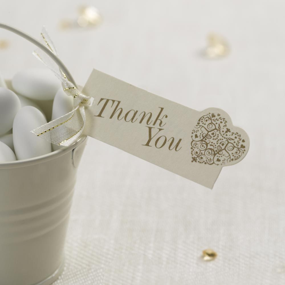Wedding Favour Tags, \'Thank You\' Heart Tags - Vintage Romance ...
