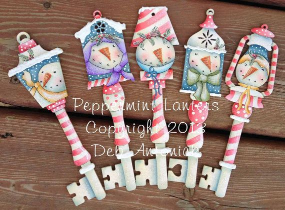 Snowie Peppermint Keys by Deb Antonick by PaintingWithFriends