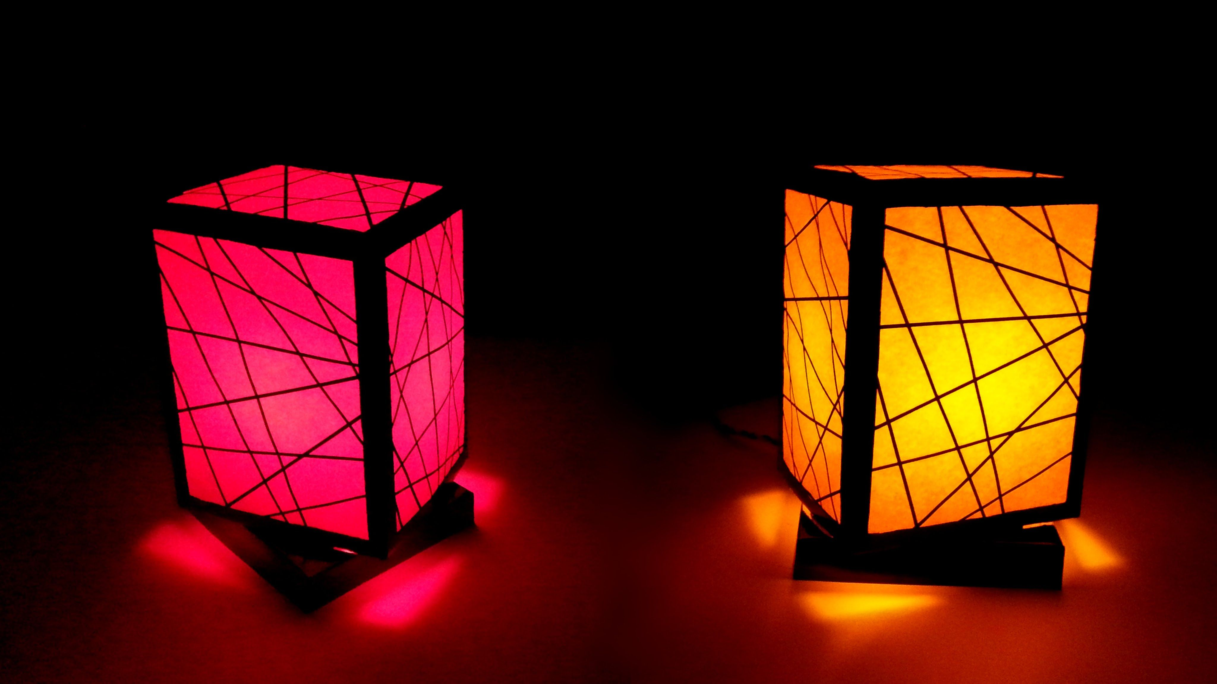 Easy Homemade Night Lamp With Paper This Lampshade Made From Is Simple To Make