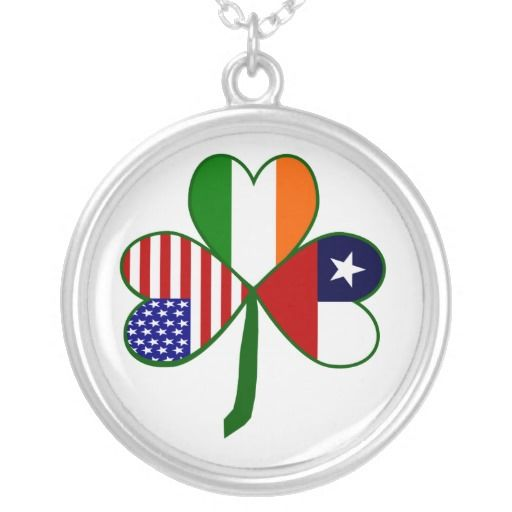Chilean Shamrock Custom Necklace. For People In The USa