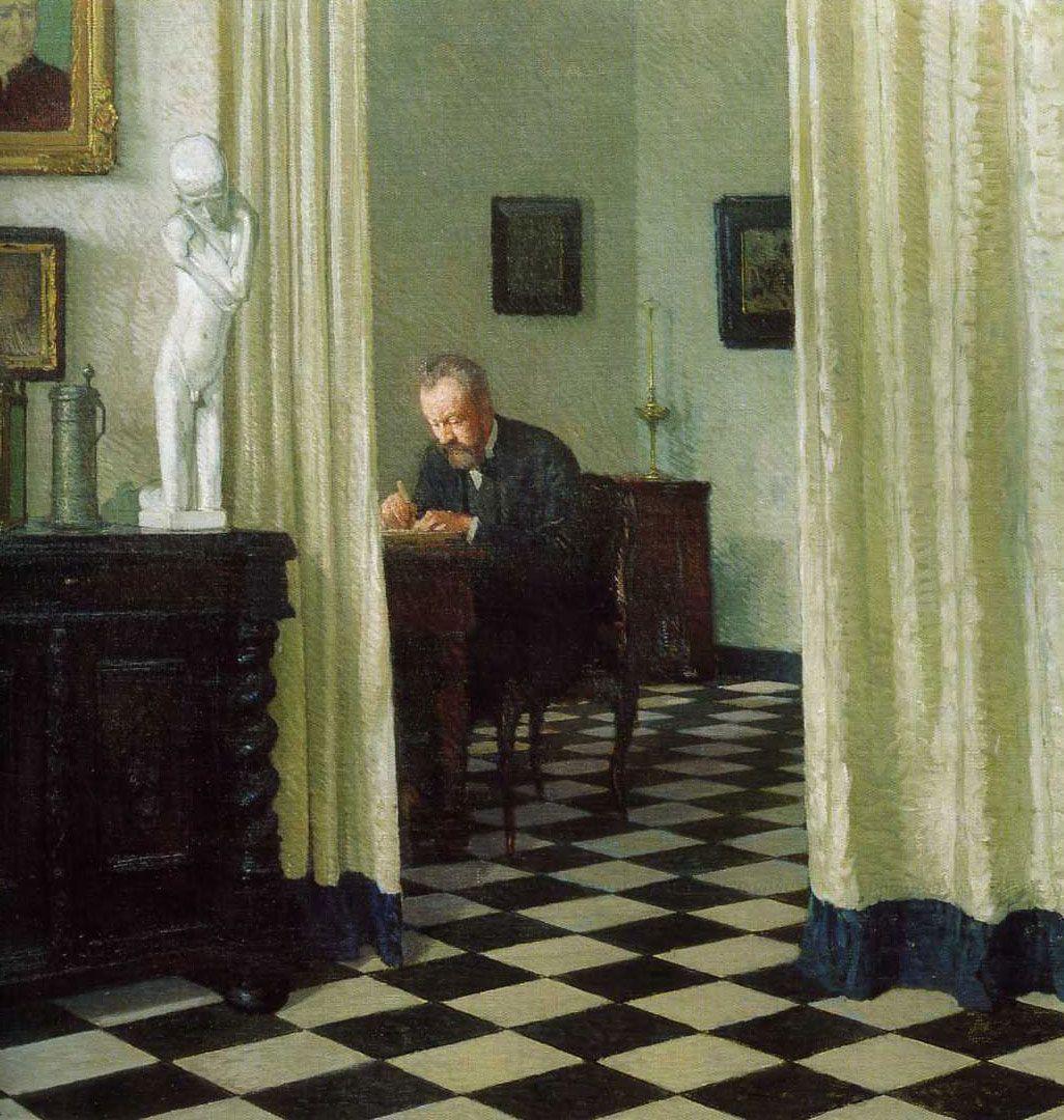 Carl Moll. The ArtistIn His Studio. 1906. Academie Der