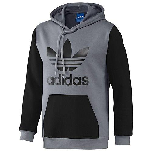 adidas Colorblock Trefoil Fleece Hoodie   Hoodies   Adidas, Hoodies ... 651ee1c39c