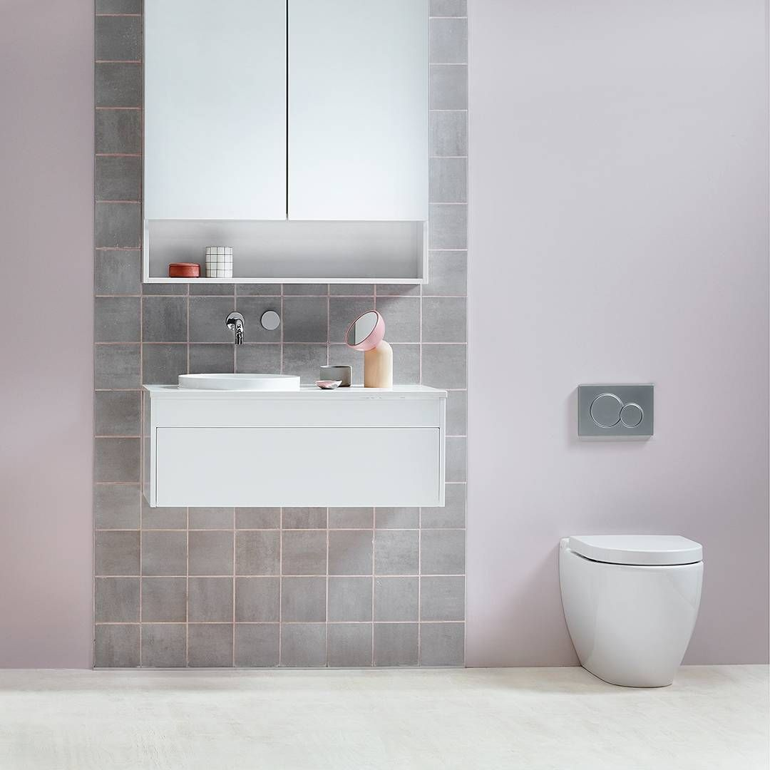 You Don't Have To Get Too Fancy With In-wall Toilets. Simple Round Buttons Will Do And They're A