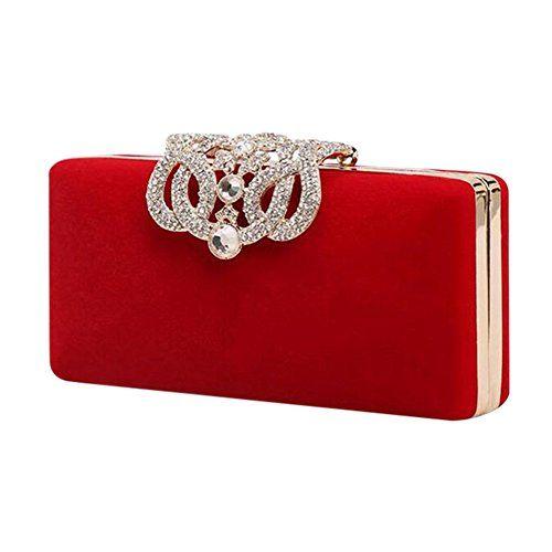 d20ddcf87ec XY Fancy Delicate Suede Women Clutch Bag Crystal Diamante Shell Evening  Party Bag
