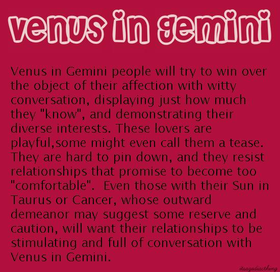 Pin by Sandra Rajkovic on Astro | Venus in gemini, Zodiac signs
