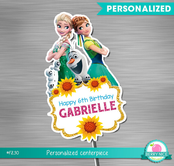 Frozen fever centerpiece print yourself frozen fever birthday frozen fever centerpiece print yourself by berryniceprintables solutioingenieria Image collections