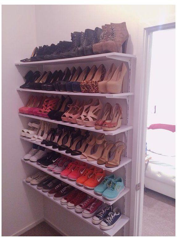 diy shoe storage closet bedroom -   16 diy Organizador dormitorio ideas