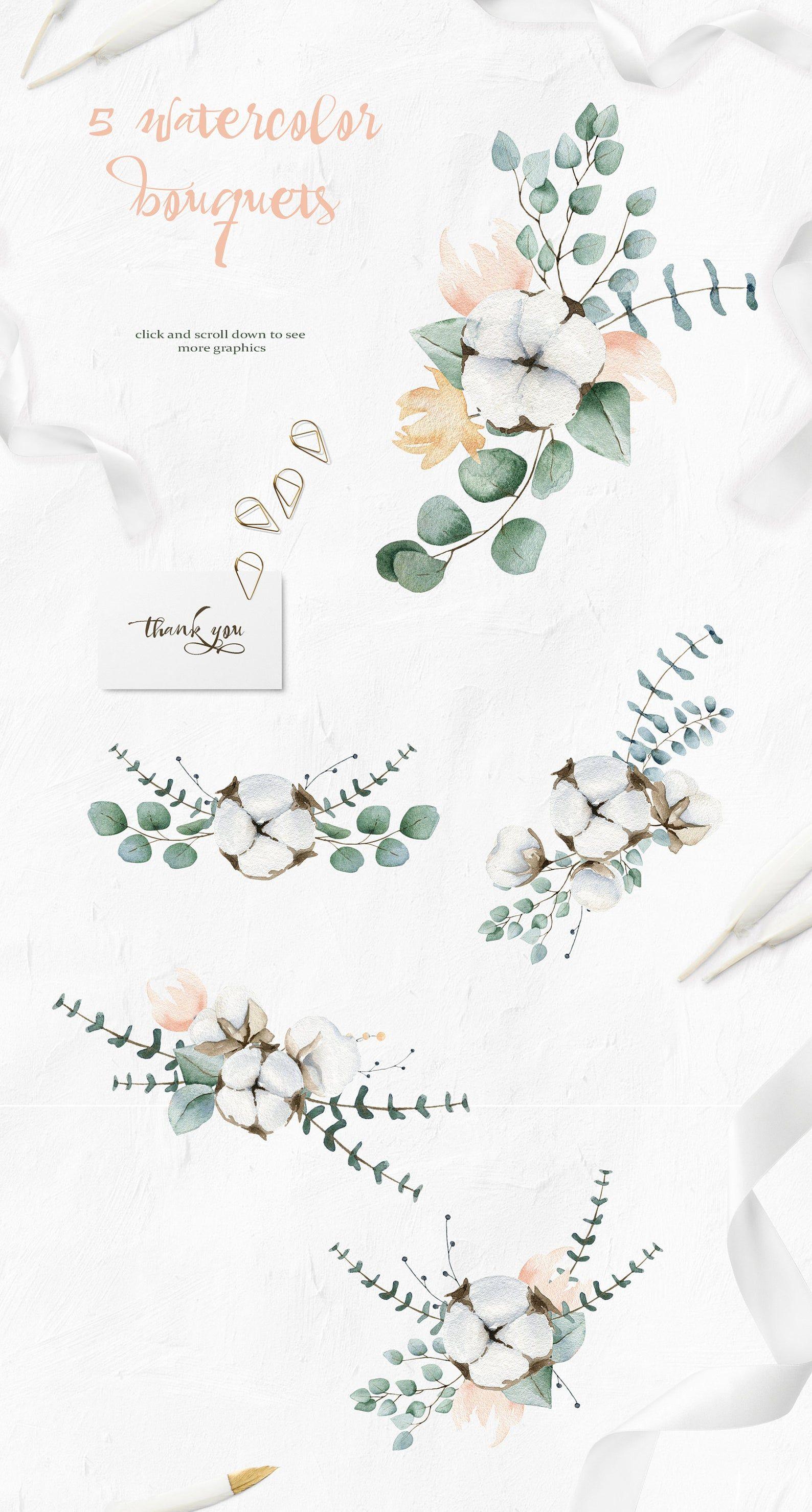 Elegant Greenery Eucalyptus Summer png Wedding clipart