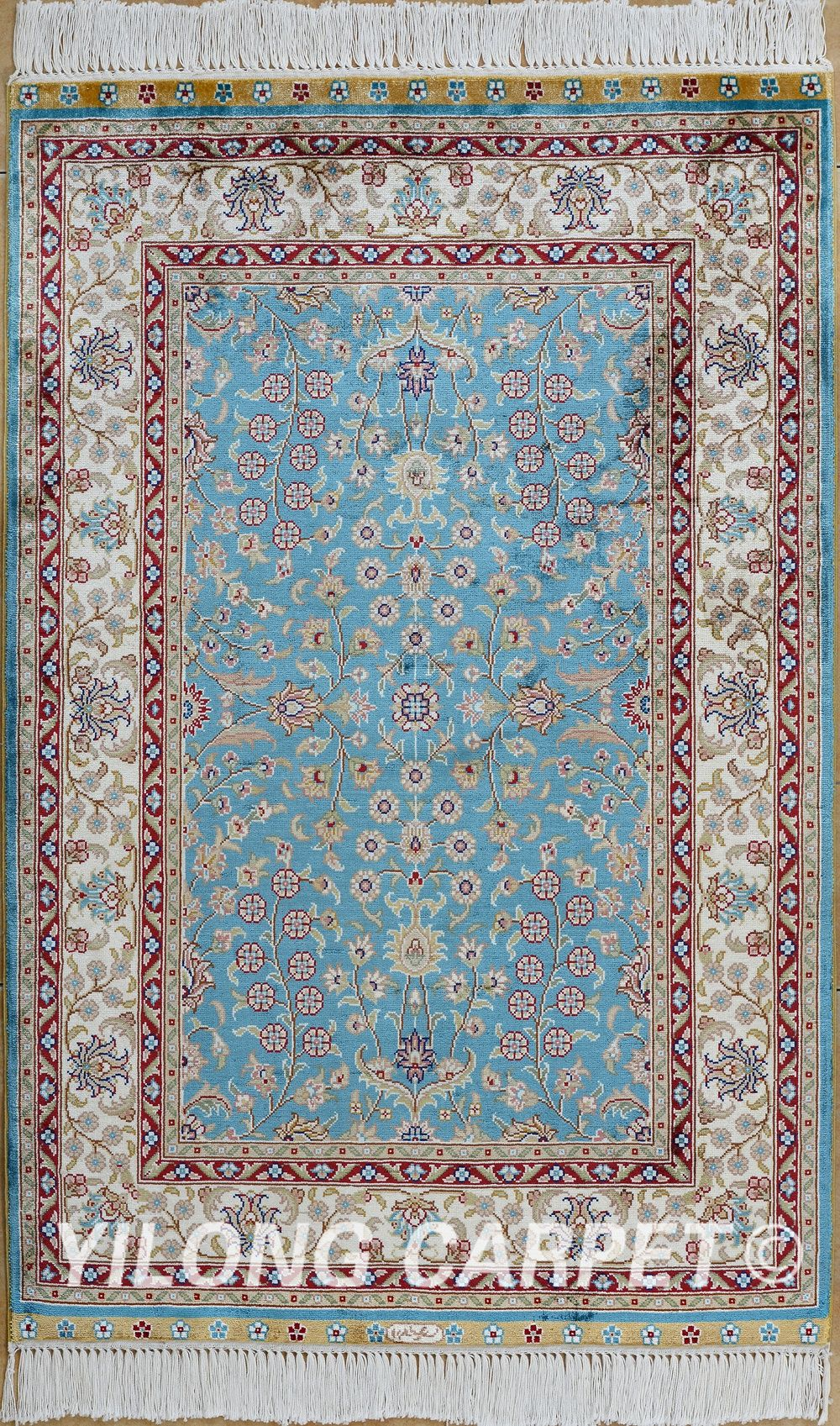 Pin by Hereke silk Rug on 2x3 ft (61x91cm) Hand Knotted Silk ...