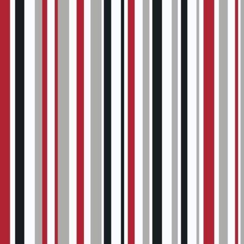 Arthouse Super Stripe Black Red White Taupe Striped Wallpaper - horizontal