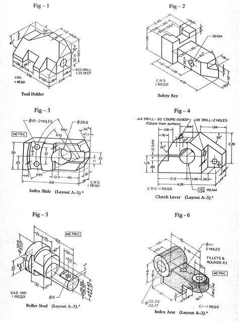 Dwg 1 Jpg 1401 1888 Tecnicas De Dibujo Dibujo Mecanico