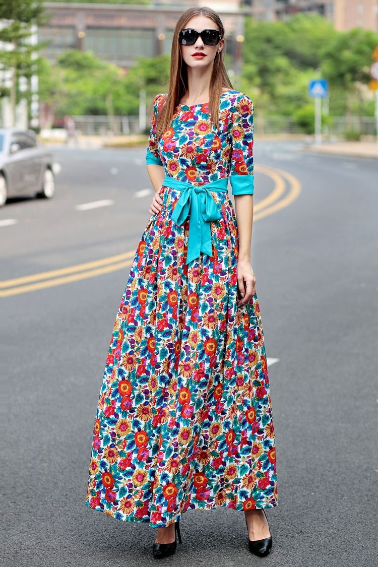 New Lady Woman/'s Summer Stylish Floral Print Stretch Dress size 10-14 UK-seller