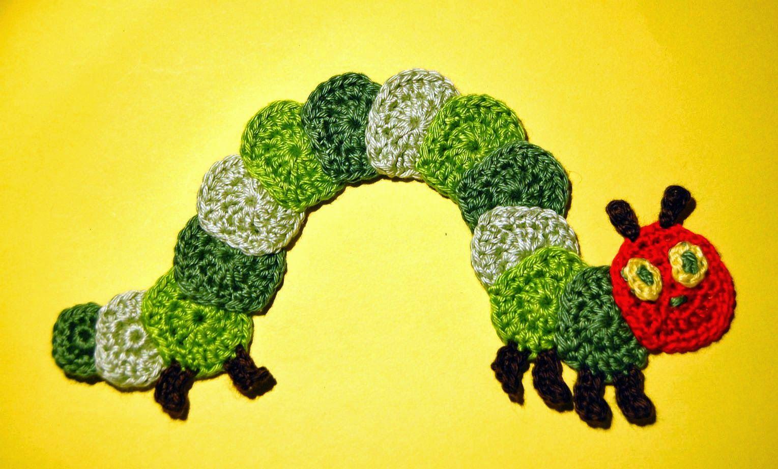 Kleine Raupe Nimmersatt Appliqué Crochet Pinterest
