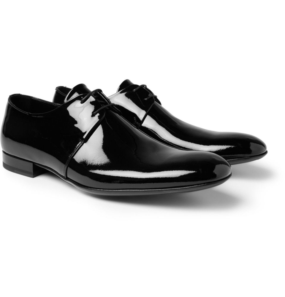 Yves Saint Laurent Patent Leather Derby Shoes Dress Up Shoes Formal Shoes For Men Mens Derby Shoes [ 1002 x 960 Pixel ]