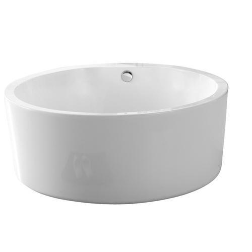Acrylic Round Soaking Tub 58 At Menards Soaking Tub Clawfoot