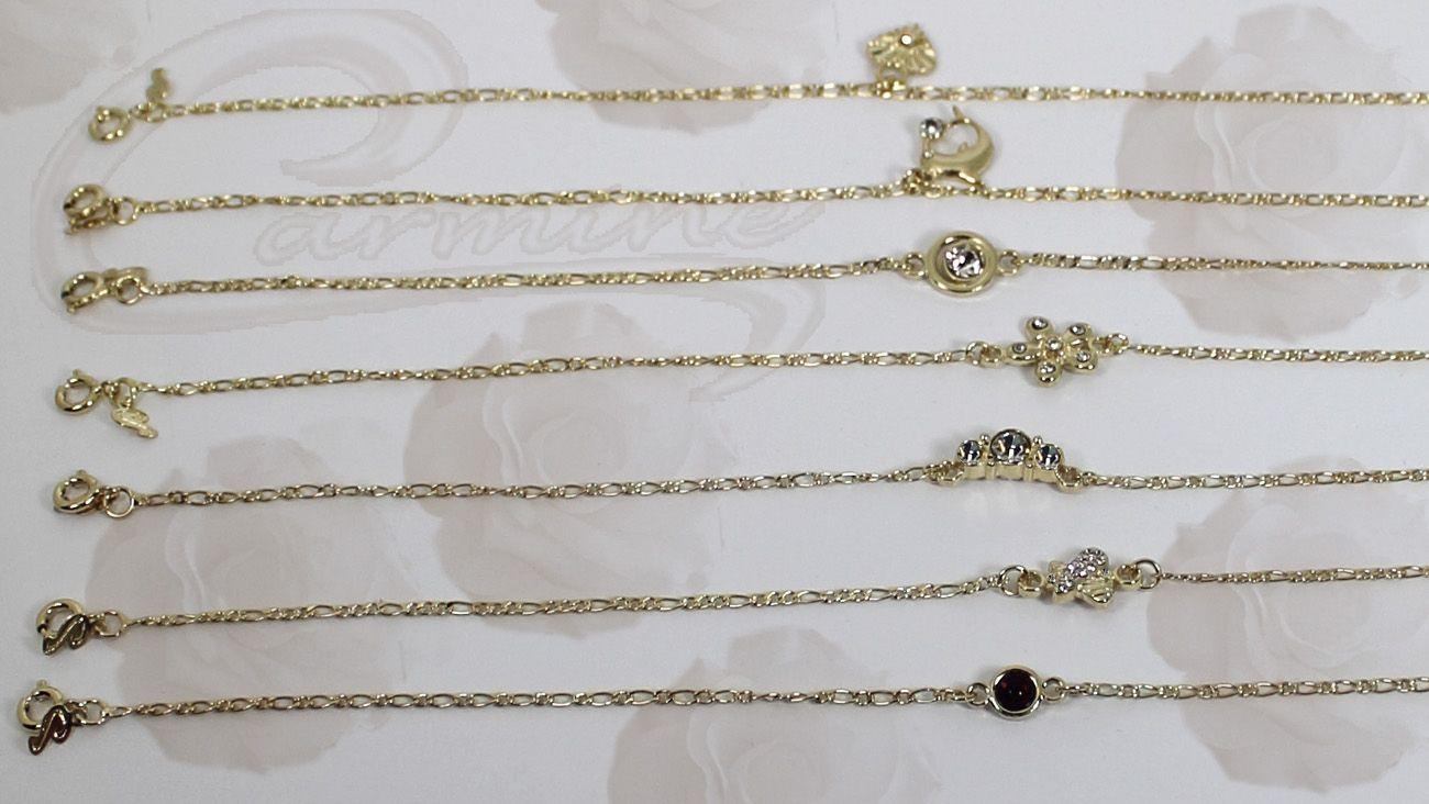 Tornozeleiras delicadas com 10 camadas de ouro 18k joias exclusivas