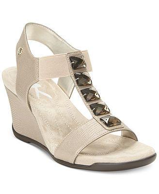 Anne Klein Lofty Sport Wedge Sandals