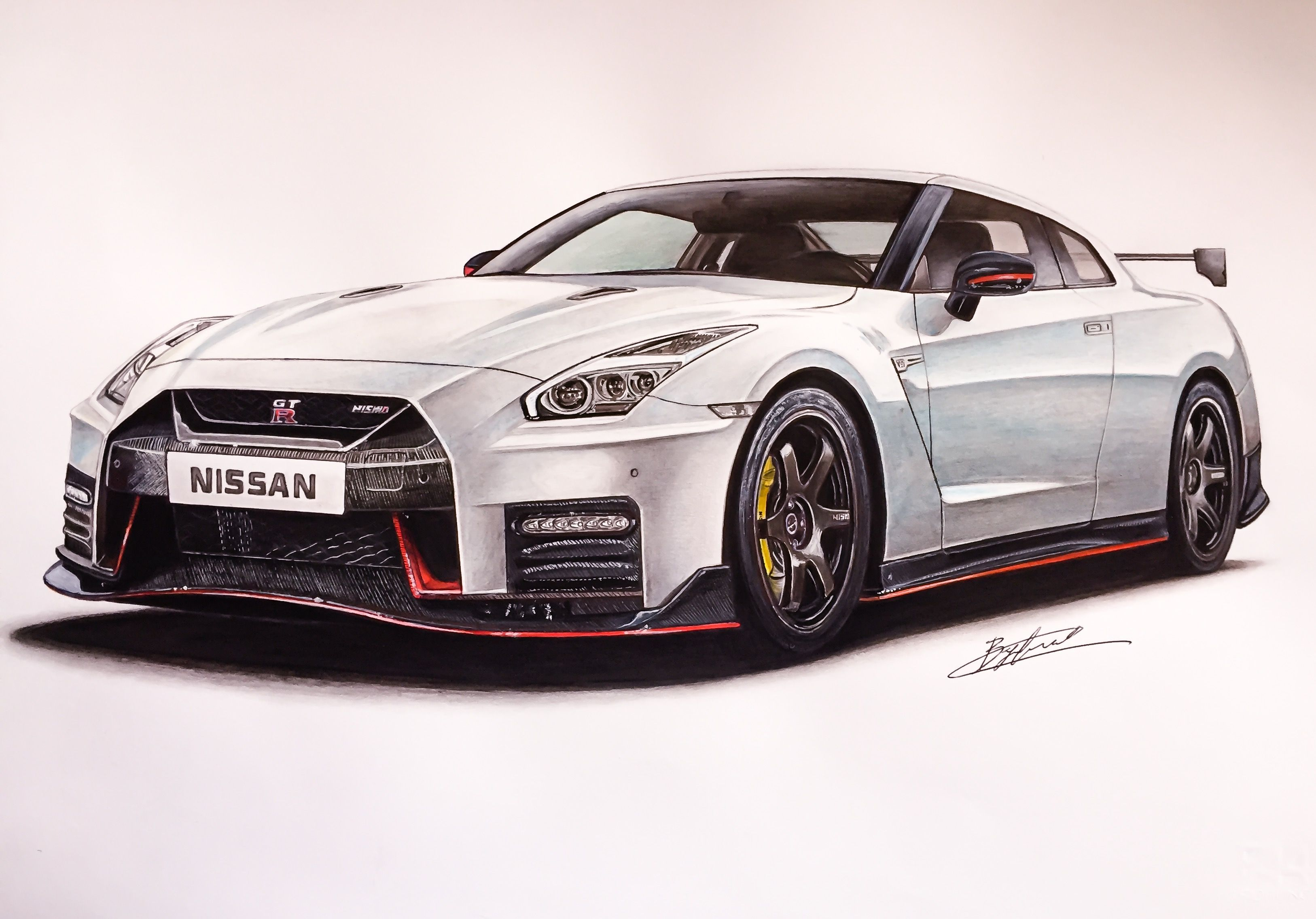 nissan gtr nismo 2017 drawing supercar by filo. Black Bedroom Furniture Sets. Home Design Ideas