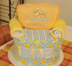 Diaper Chair Craft Instructions Baby Shower Diaper Cakes