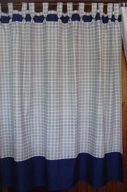 Cortina elaborada en tela cortinas de ba o curtains - Persianas para banos ...