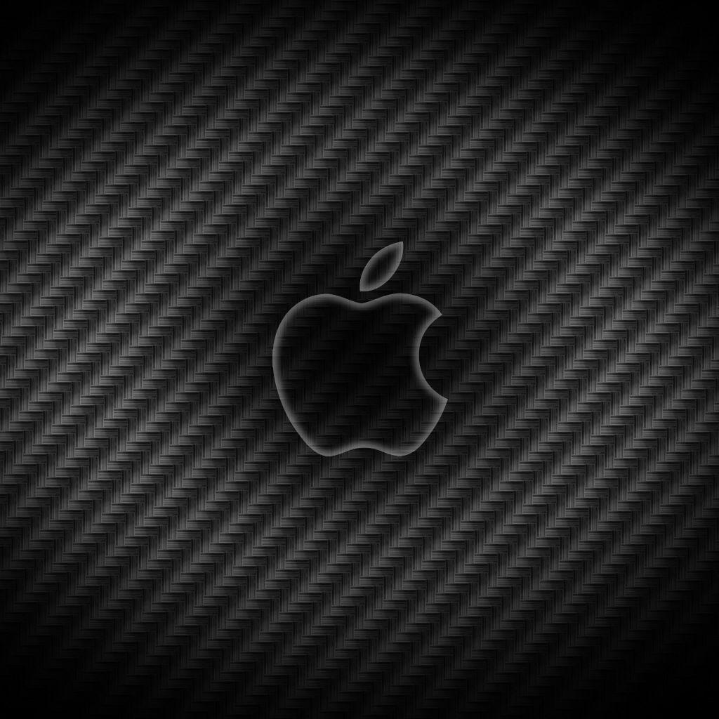 İphone 5s Hd 3D Carbonfiber Apple Logo Wallpaper Parallax