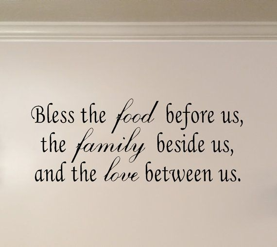 Family Dinner Blessing Wall Quote Decal Etsy Wall Quotes Decals Quote Decals Wall Quotes