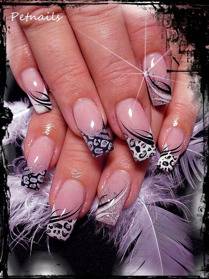 44 Cute and Easy Nail Designs | Nail nail, Feathers and Creative nails
