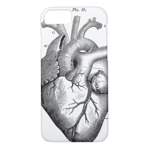 vintage heart diagram iphone 7 case