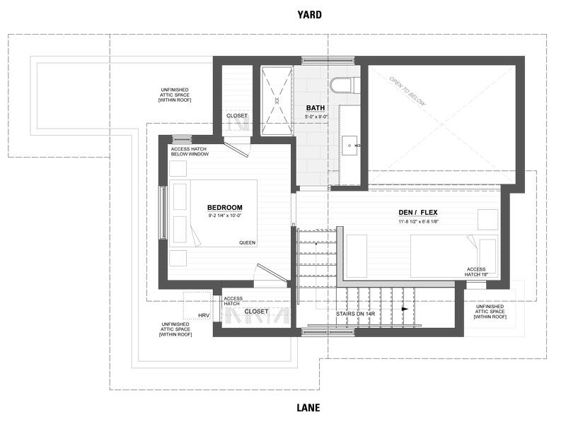 Floor Plan Vancouver Laneway House