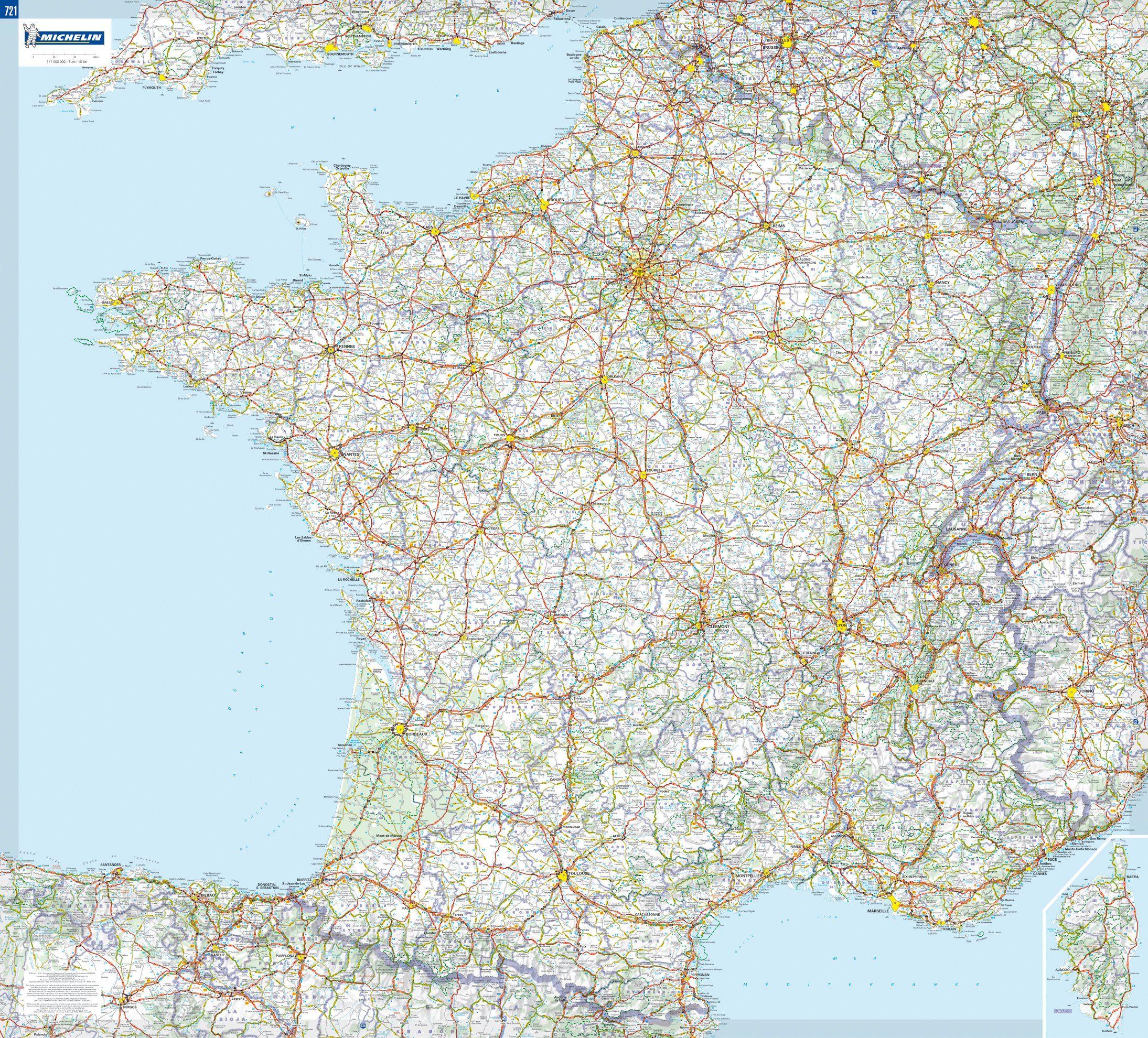 Francia Mapa De Carreteras Michelin Michel Houellebecq El Mapa