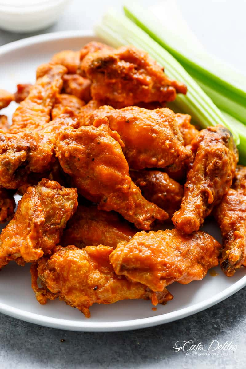 Crispy Buffalo Chicken Wings Are Exactly What They Claim To Be Crispy Without Deep Frying Baked Chicken Wings Buffalo Crispy Chicken Wings Baked Chicken Wings