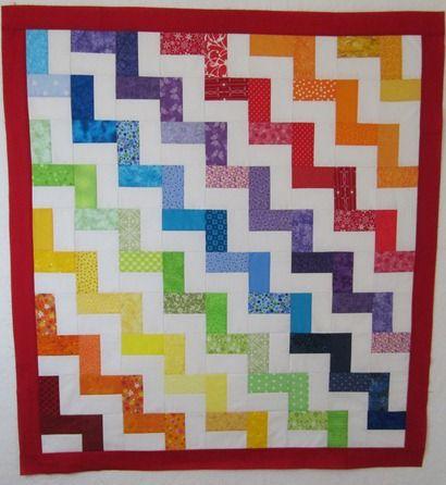 Zig Zag Rainbow Tutorial Rainbow Quilt Quilt Patterns Free