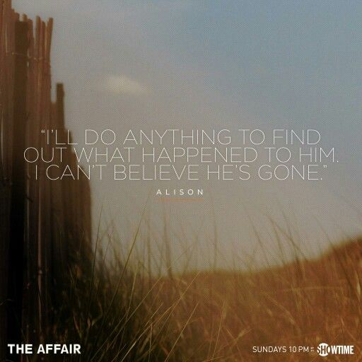 The Affair quote showtime in 2019