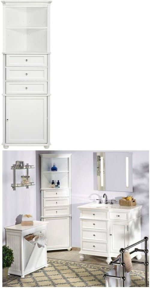 Inspirational White Linen Storage Cabinet