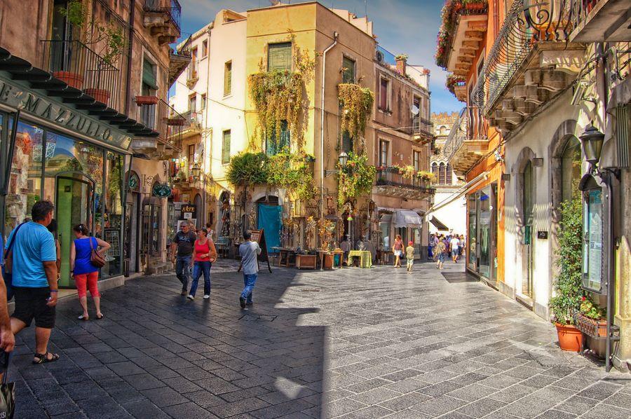 Streets of Taormina..... Province of Messina, Sicily