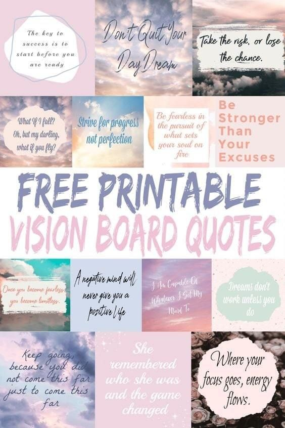 31 Free Vision Board Printables to Inspire Your Dr