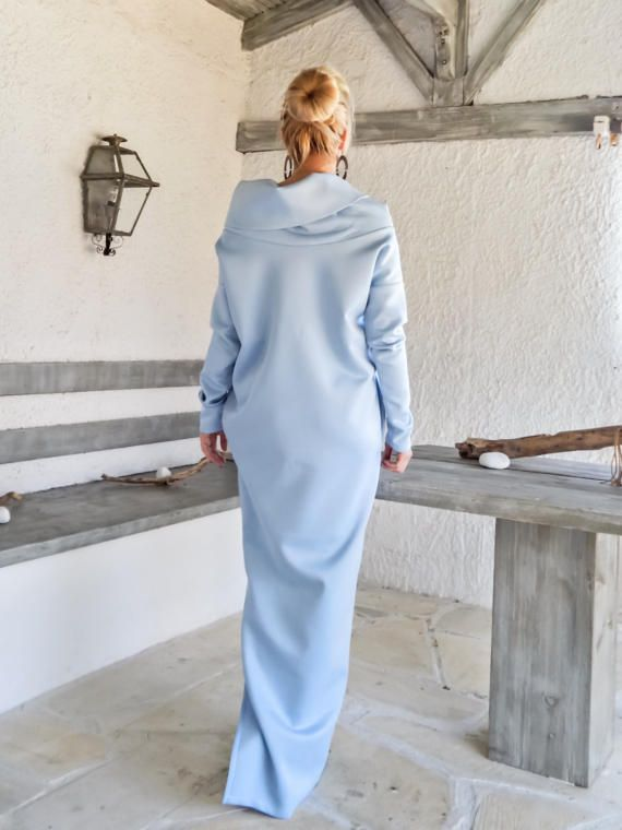 f9bf8c1ab24 Scuba Neoprene Maxi Dress Kaftan with Pockets   Baby Blue Scuba Kaftan   Plus  Size Dress   Oversize Loose Dress    35192 A very elegant....and  sophisticated ...