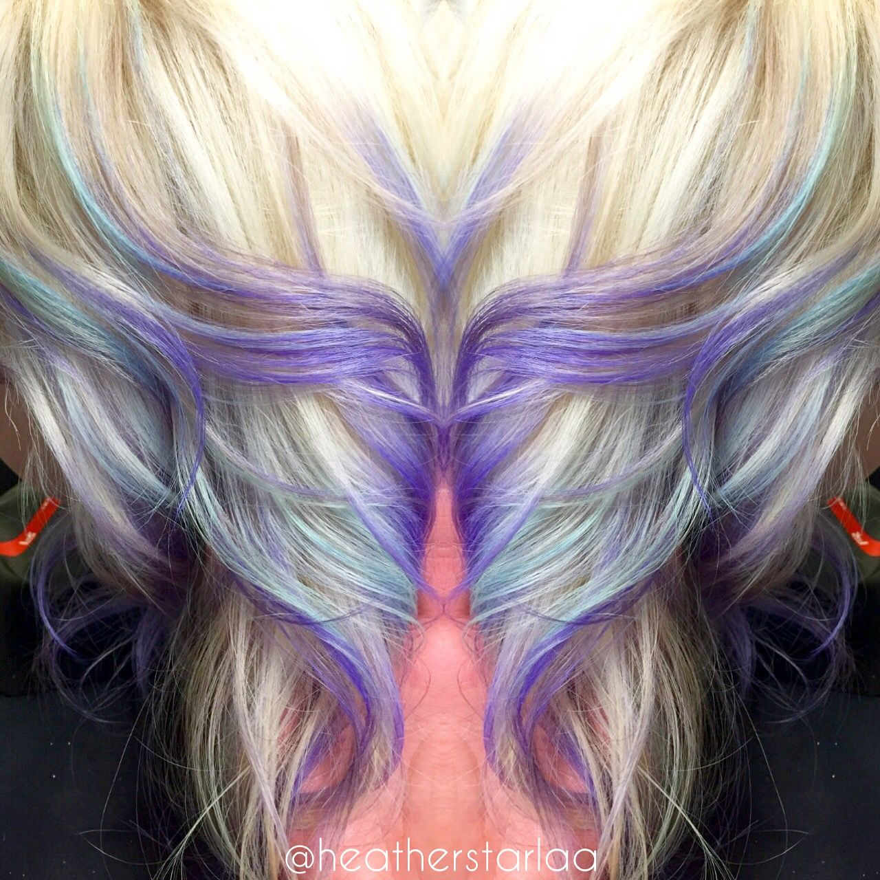 Platinum To Lavender Ombre With Pastel Blue Highlights Blonde Hair Platinum Hair Lavender Hair Paste Pink Hair Streaks Light Hair Color Hair Streaks Blonde