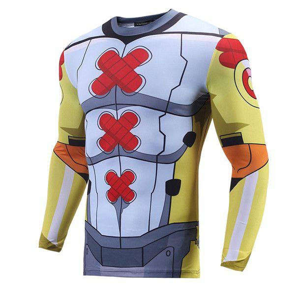 Compression Crossfit Longsleeve Rashguard Armor Digi-Egg Digimon - Idolstore