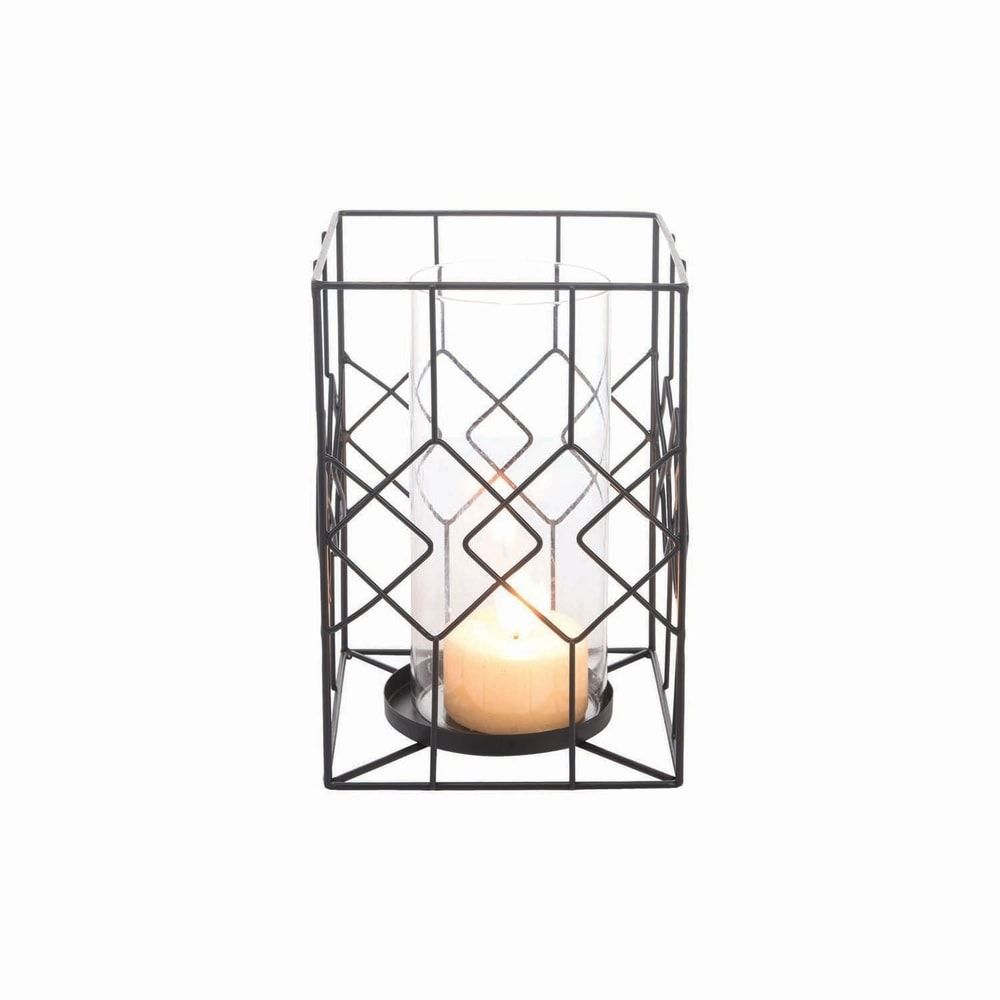 Diamond Wire Candle Holder Large, Black(Metal) in 2020