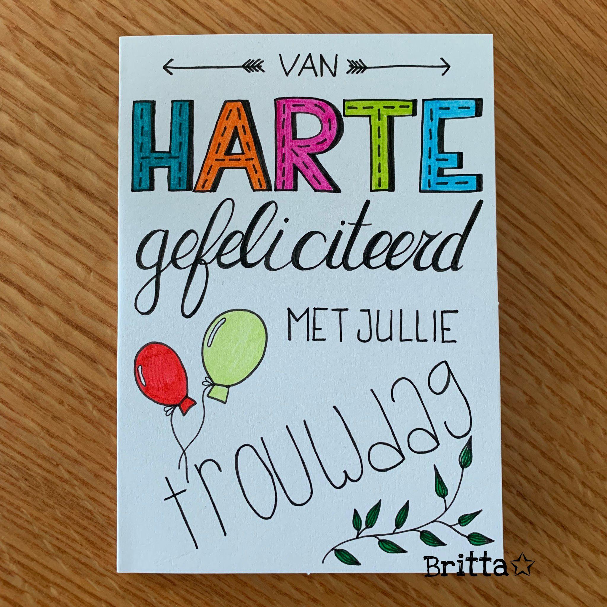 Handlettering Trouwdag Jubileum Kaart Maken Liefde Kaarten Maken Handletteren Handbelettering