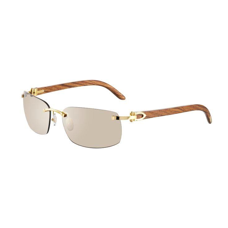 ac562220f1a Cartier Rimless sung Cartier Rimless sunglasses with C decor - Golden  finish