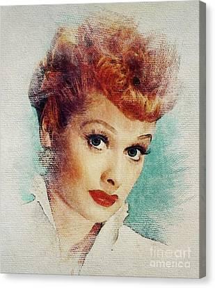 Lucille Ball Canvas Print - Lucille Ball, Vintage Actress by John Springfield #lucilleball